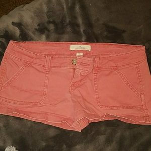 Dark salmon colored Hollister shorts